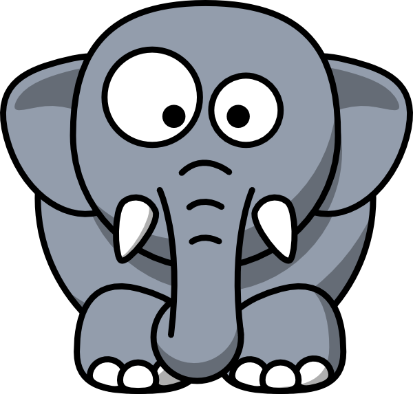 600x573 Image Of Baby Elephant Clipart