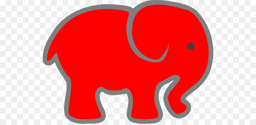 900x440 Indian Elephant Red Clip Art