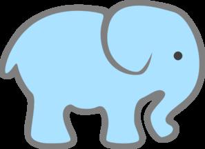 297x216 Lt Blue Baby Elephant Clip Art