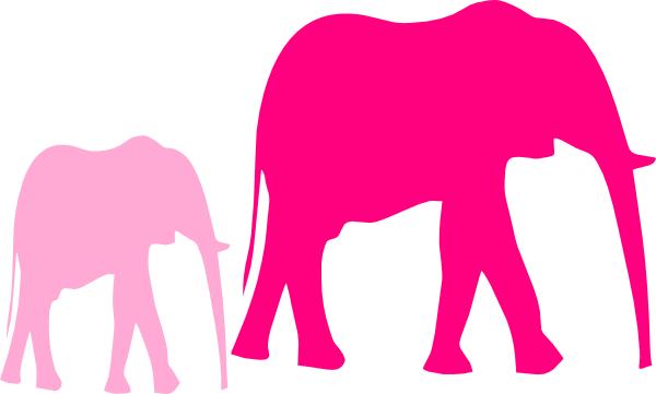 600x361 Pink Baby Shower Elephant Mom And Baby Clip Art