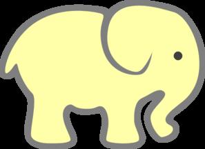 297x216 Yellow Baby Elephant Clip Art Clipart Panda