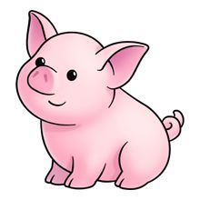 220x220 Clipart Pigs
