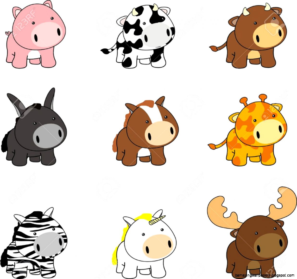 Baby Farm Animal Clipart at GetDrawings | Free download