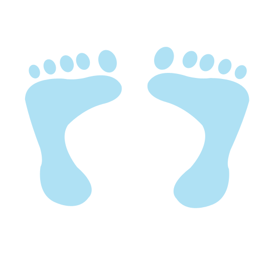 550x525 Image Of Baby Footprint Clipart
