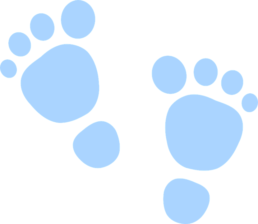 830x720 Barefoot Clipart Footprint Outline