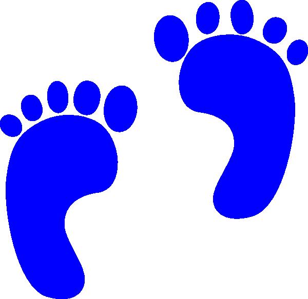 600x583 Blue Baby Footprints Clip Art