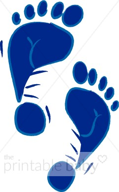 241x388 Blue Footprints Clipart Baby Footprint Clipart