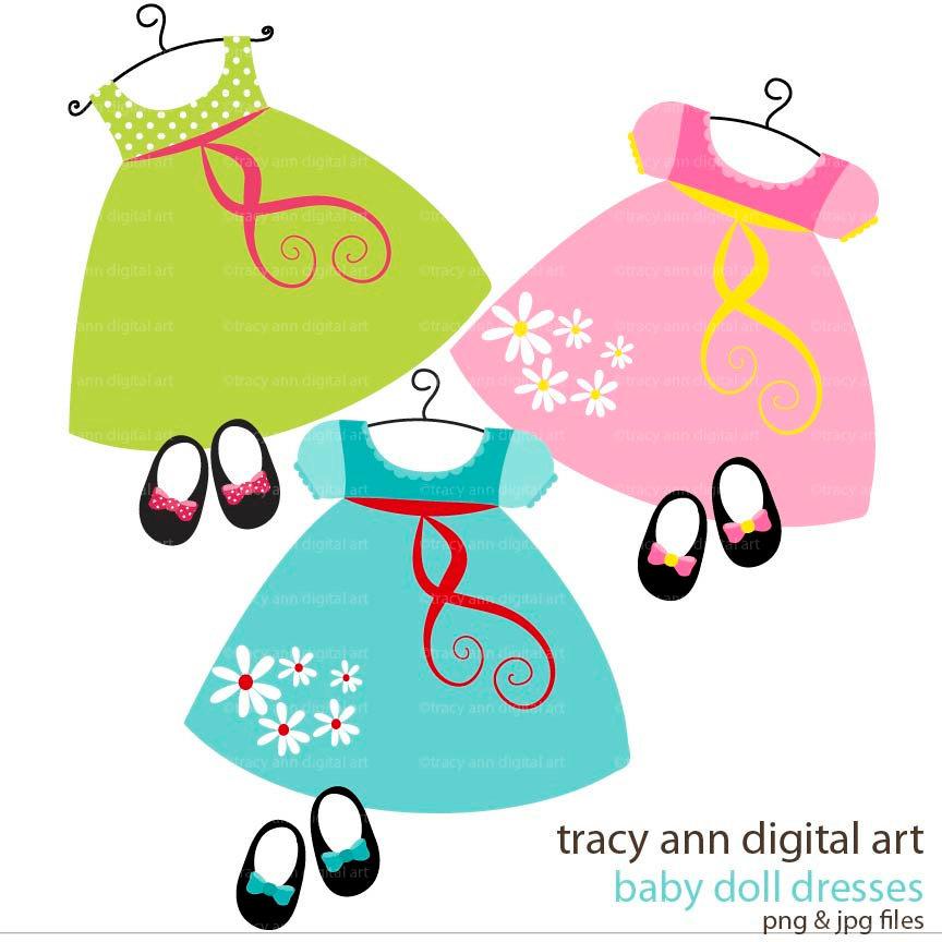 864x864 Clip Art Baby Girl Dress Clipart
