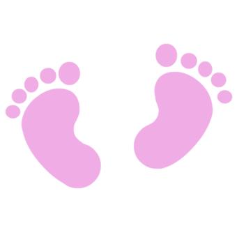 340x340 Baby Girl Footprints Clip Art Pink Baby Footprints Baby Girl