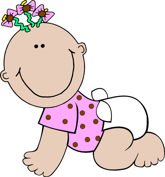 558x599 Toddler Girl Clipart Animated