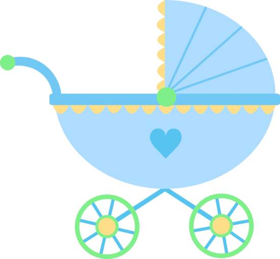 550x510 Baby Girl Stroler Clipart