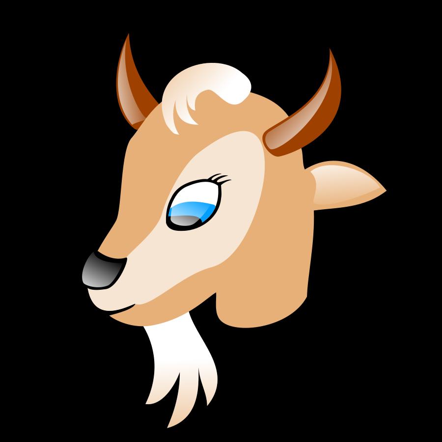 900x900 Cute Goat Clip Art Images Black And White Clip Art