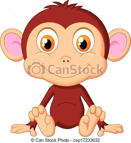 432x470 Baby Monkey Cartoons Cute Monkey Cartoon Vector Baby Monkey