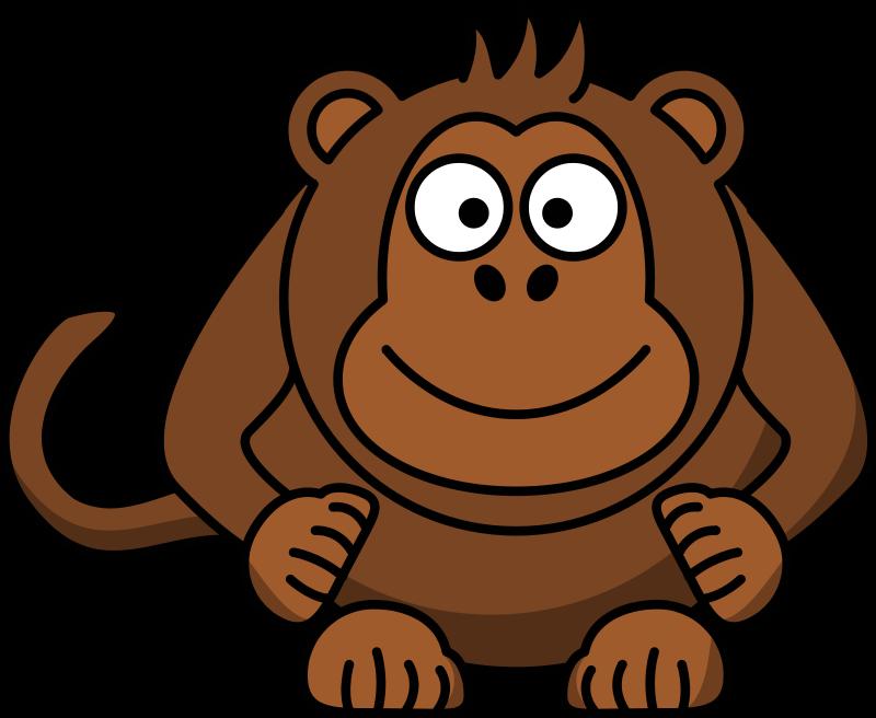 800x656 Cartoon Baby Gorilla