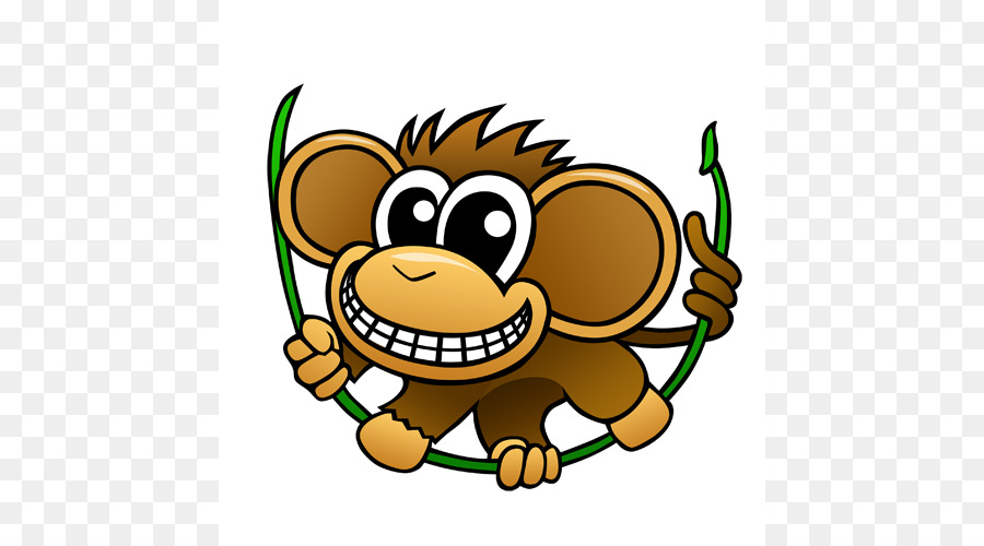 900x500 Chimpanzee Baby Chimp Cartoon Clip Art