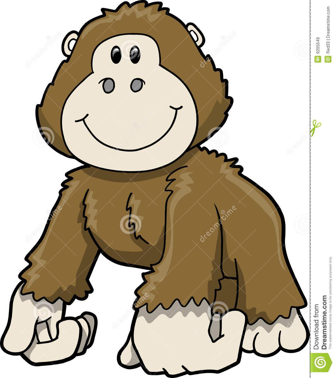 1155x1300 Cute Gorilla Clipart
