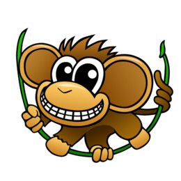 260x260 Free Download Chimpanzee Baby Chimp Cartoon Clip Art
