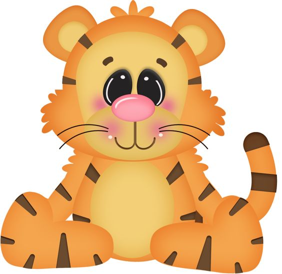 564x548 Tiiger Clipart Baby Shower