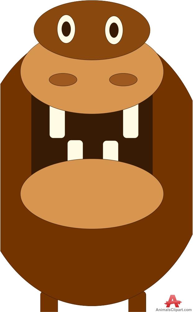 621x999 Brown Clipart Hippo
