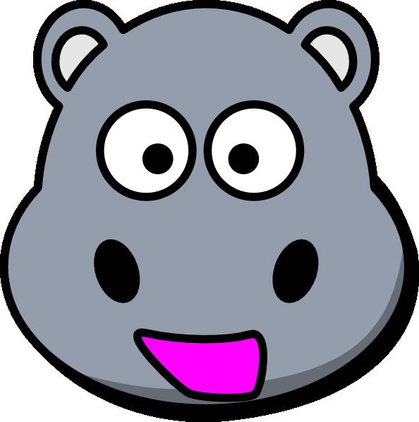594x598 Clipart Hippo