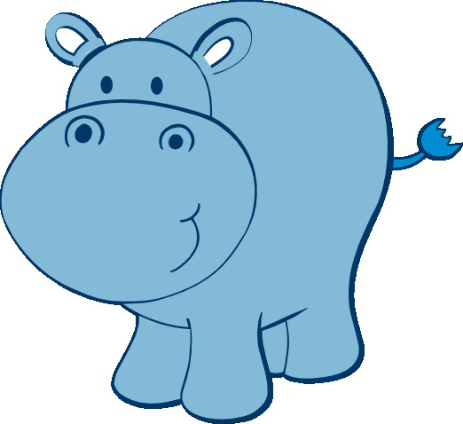 522x478 Image Of Baby Hippo Clipart
