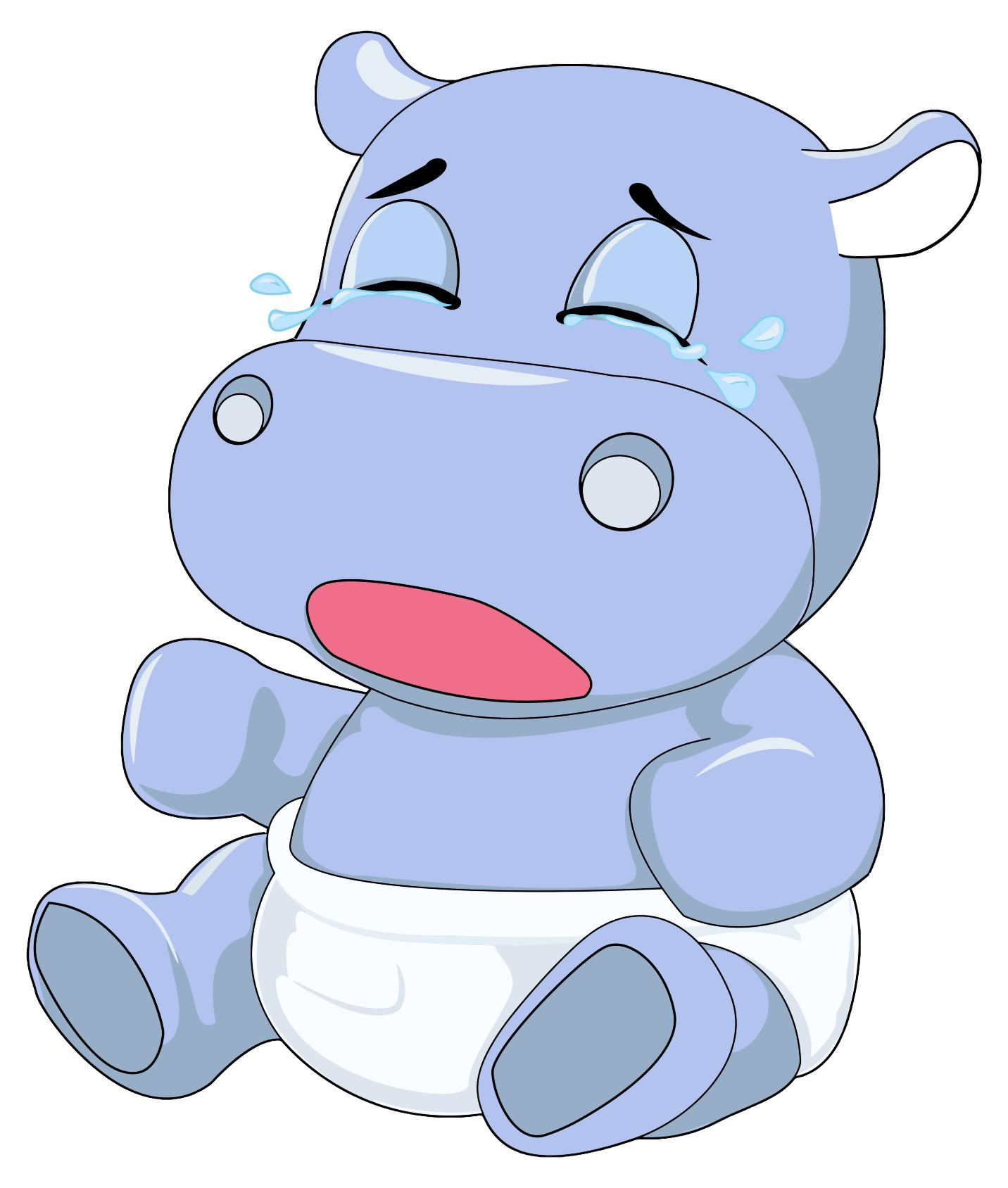 1432x1688 Baby Hippo Crying Clipart