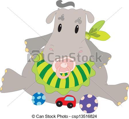 450x415 Baby Hippo.