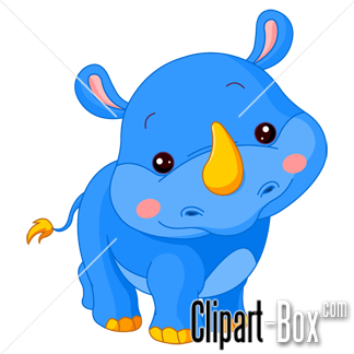 324x324 Clipart Blue Rhino Cartoon Art Rhinos, Royalty