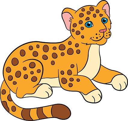 426x404 Cartoon Animals For Little Baby Jaguar Premium Clipart