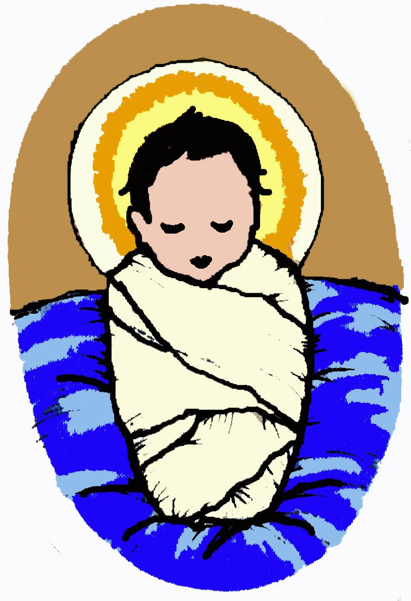 820x1199 Cartoon Baby Jesus