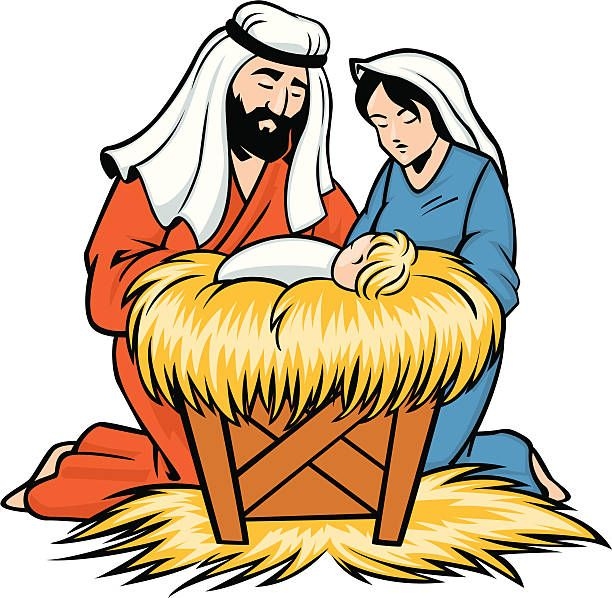 Baby Jesus In A Manger Clipart