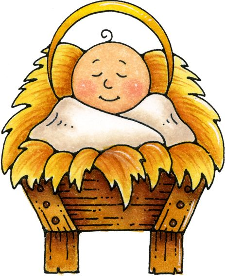 Baby Jesus In The Manger Clipart
