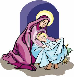 287x300 Free Clipart Of Mary And Baby Jesus Download Clip Art
