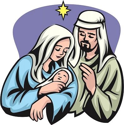 396x400 Mary Jesus Joseph Clipart