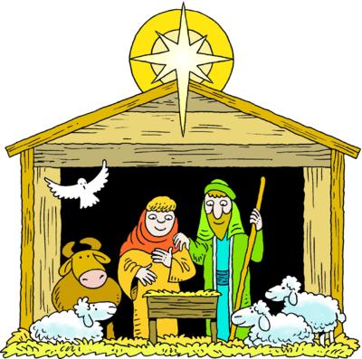 400x397 Baby Jesus Manger Clipart