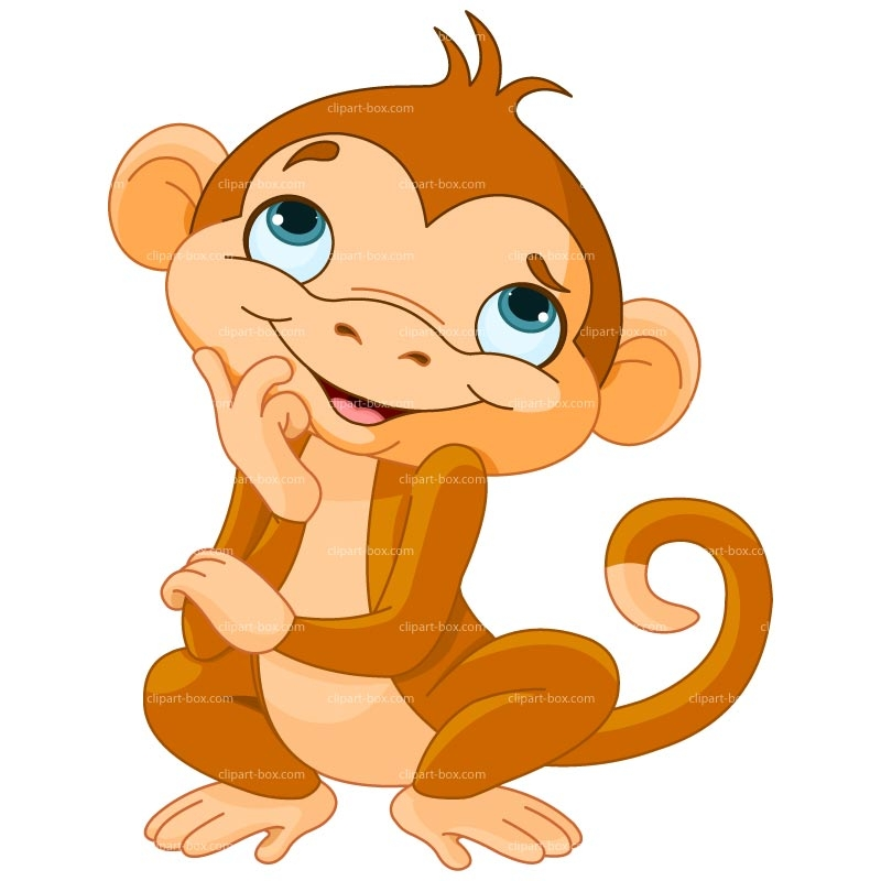 baby jungle animals clipart at getdrawings com free for cute monkey clipart black and white cute monkey clip art face