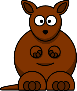 252x296 Cartoon Kangaroo Clip Art Free Vector 4vector