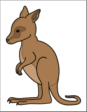 304x391 Clip Art Baby Animals Kangaroo Joey Color 1 I
