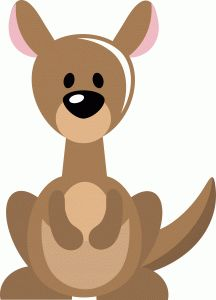 216x300 Kangaroo Template Logo.jpg Arts And Crafts For Kids