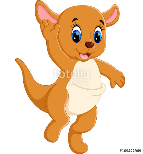 466x500 Illustration Of Cute Baby Kangaroo Cartoon Stock Image