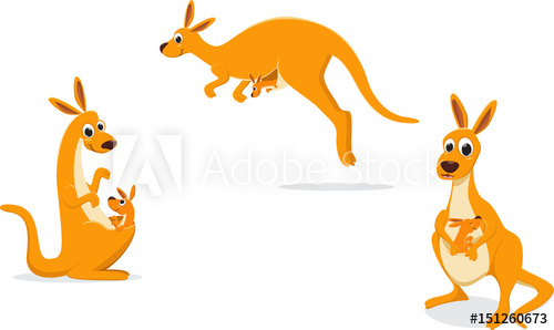500x298 Illustration Of Mother Kangaroo With Her Baby