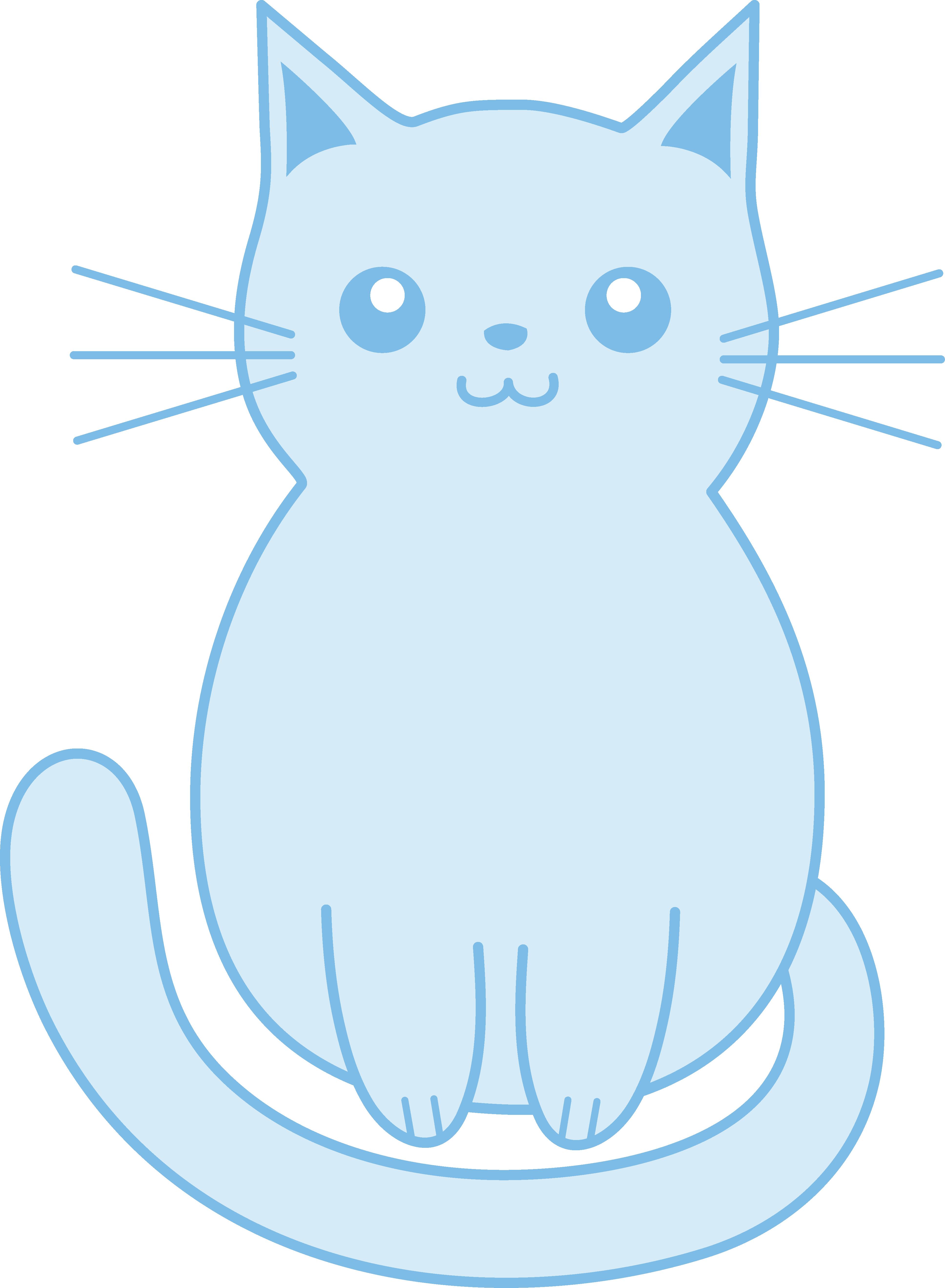 3872x5274 Cute Blue Kitten Clip Art