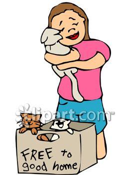 263x350 Girl Hugging A Kitten From A Free Kittens Box