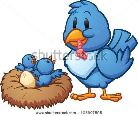 450x379 Mother Bird Feeding Baby Clipart