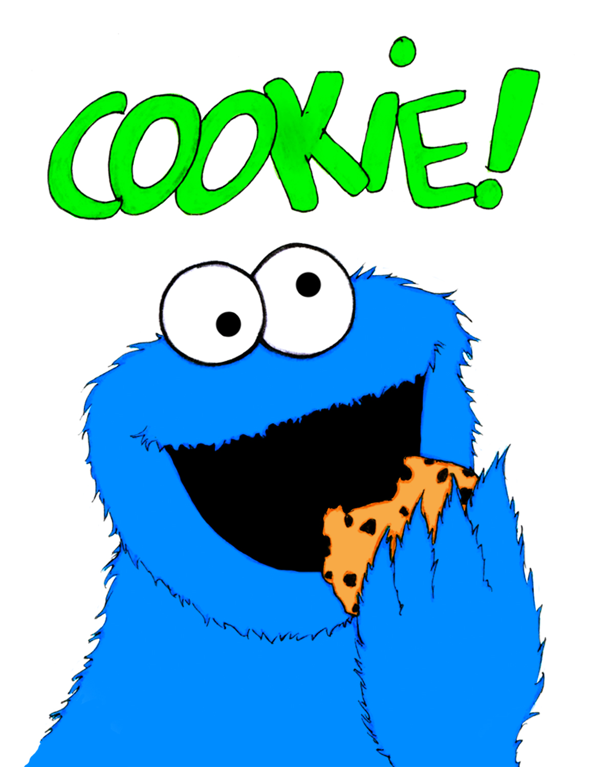 1200x1500 Printable Cookie Monster Clipart