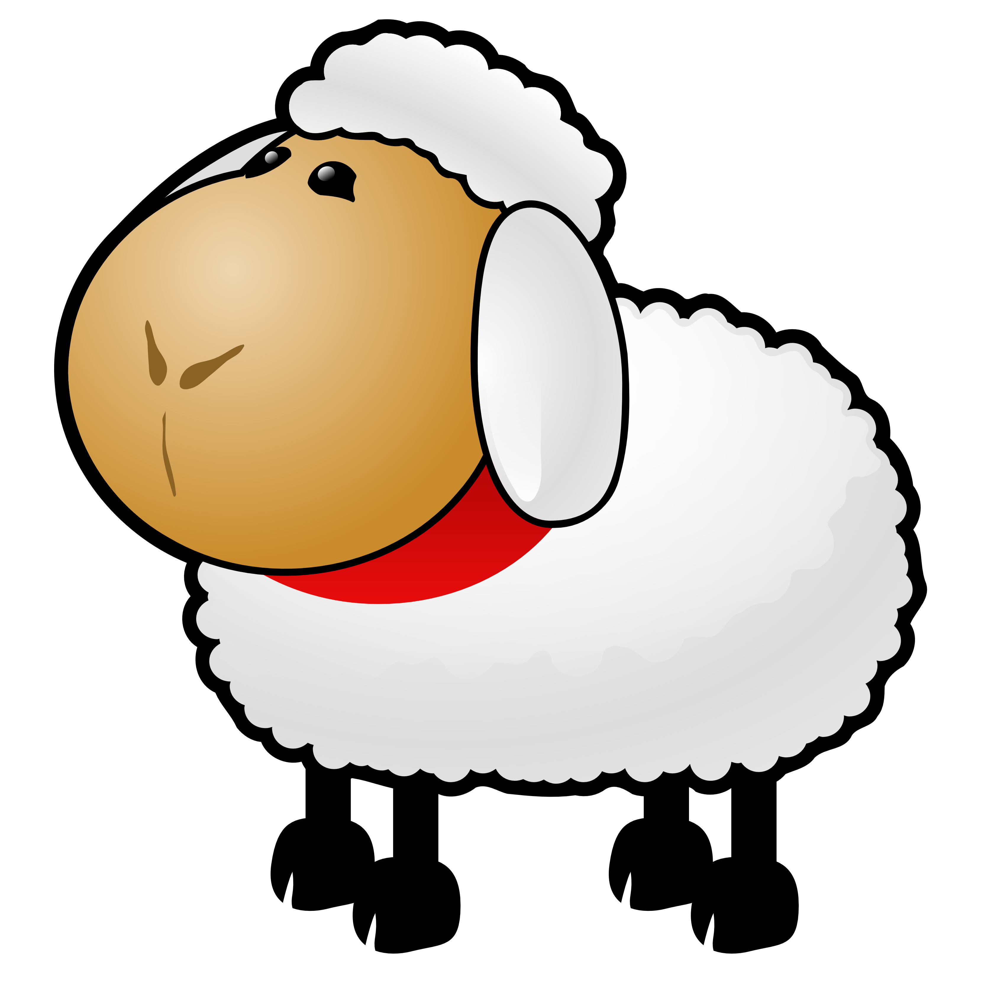 3333x3333 Clip Art Clip Art Of A Sheep