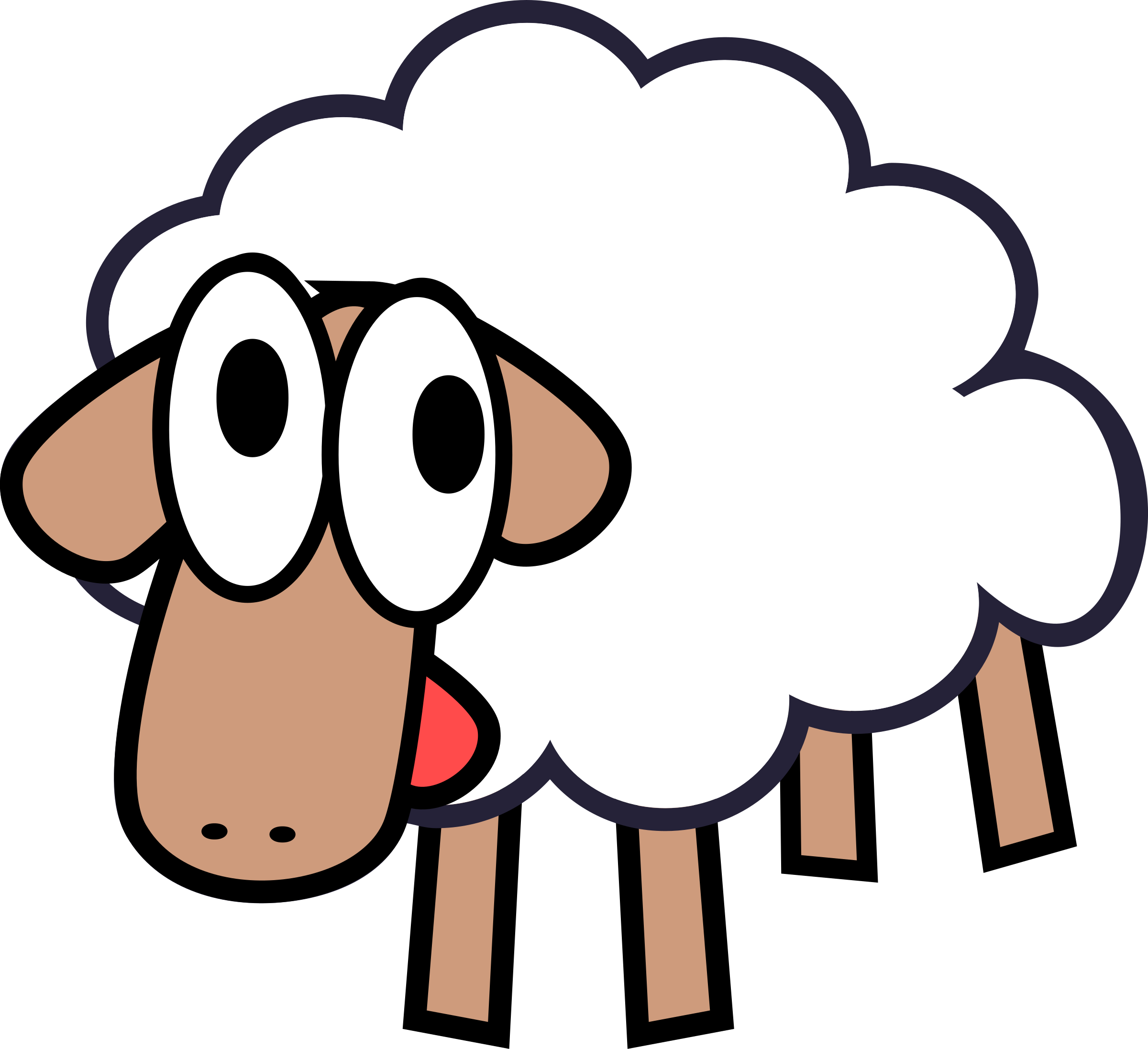 2400x2193 Lamb Clipart Sleepy Sheep