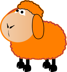 279x299 Orange Sheep Clip Art