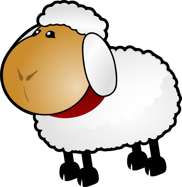 582x600 Sheep, Rotate 5 Clip Art