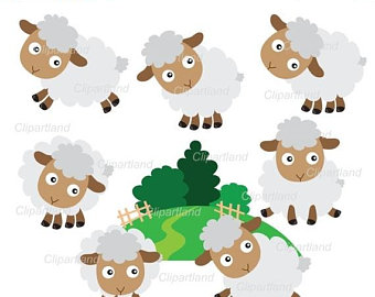340x270 Sheep Clipart Etsy